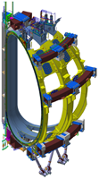 Magnet system 3D model developed for the structural analyses