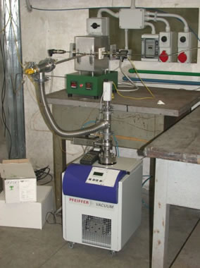 HRP apparatus (furnace and vacuum system)